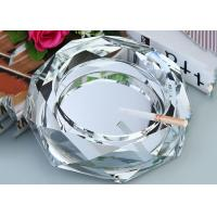 Buy cheap Clear Crystal Home Decorations Crafts Ashtray With Cigar Holders Custom Size from wholesalers