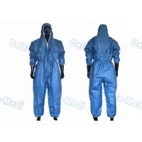 Buy cheap Dark Blue SF Microporous Disposable Protective Coveralls Class I With Elastic Cuff from wholesalers