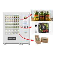 Buy cheap Refrigerated Automatic Fruit Fresh Salad Vending Machine 22 Inch Advertising Screen from wholesalers