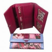 Wholesale Women's Wallet, Measures 19.2 x 10 x 2.5cm, with Gusset Bill Compartment and Snap Closure from china suppliers