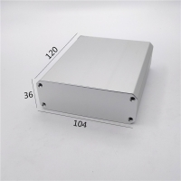 Buy cheap 104*36*120mm Custom Extruded Aluminum Case In White from wholesalers