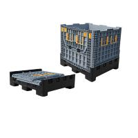 Buy cheap Large Bulk Collapsible Pallet Container Folding Plastic Pallet Box from wholesalers