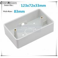 Buy cheap Single Gang Junction boxes ABS US Type Junction Box RJ45 Networking Junction box from wholesalers