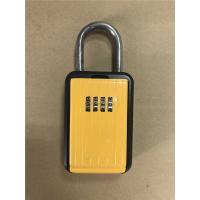 Buy cheap Portable Type Car Key Lock Box , Car Key Safe Lock Boxes in Yellow from wholesalers