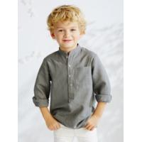Wholesale Children's shirt » Young Kids Round Collar Long Sleeve Shirt from china suppliers