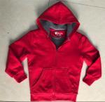 Buy cheap Red Childrens Fleece Coats , Boys Hooded Fleece Jacket Sherpa Lining from wholesalers