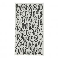 Buy cheap Black Glitter Alphabet Learning Stickers from wholesalers