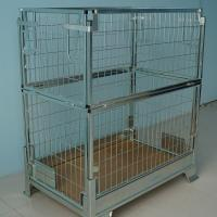 Buy cheap Wire Mesh Storage Cages Stock Metal Heavy Duty Container 2 Layers from wholesalers
