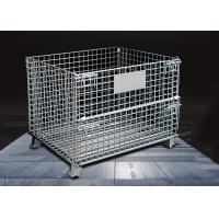 Wholesale Durable Wire Mesh Storage Cages / Industrial Storage Cage Movable from china suppliers