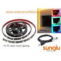 Buy cheap USB 5V 8mm 5050 RGB LED Strip Lights Colour Changing Laptop PC Back Mood Lighting from wholesalers