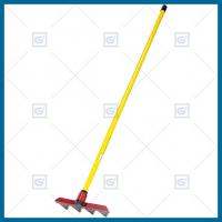 Buy cheap LH106F01 forestry fire rake with 60 inch fiberglass handle, forestry fire fighting tool, fire rake replacement teeth from wholesalers