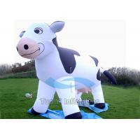 Wholesale Waterproof Dairy Cow Blow Up Cartoon Characters Inflatable With Air Blower from china suppliers
