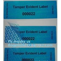 Buy cheap Void Hologram labels stickers,sliver tamper evident security VOID label,adhesive moon rock pre cotton size label roll vo from wholesalers