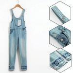 Buy cheap Custom Printed Slim Fit Girls Denim Clothes / Jeans Bib Pants OEM ODM from wholesalers