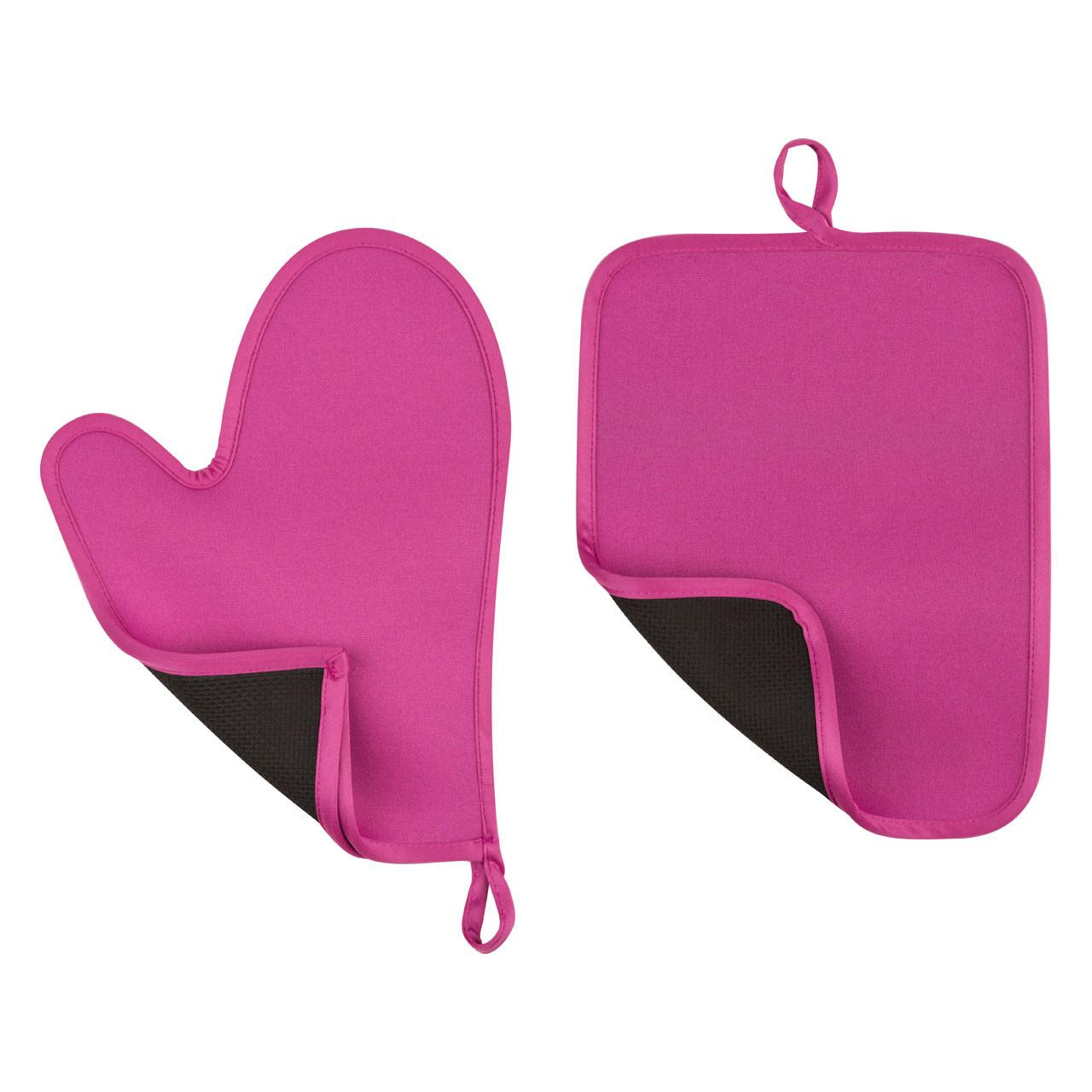 Wholesale Durable Kitchen Oven Mitts Glove Set Shakeproof , Rose Colored ODM from china suppliers