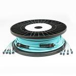 Buy cheap MPO - MPO OM3 - 300 Pre Terminated Multi Fiber Cables 48F With Plastic Spool from wholesalers