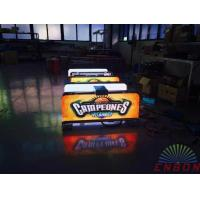 China 6mm Mobile dynamic taxi LED Sign Two sided 27777 dots / sqm 16.5 KG 1R1G1B on sale