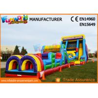 Wholesale Vertical Rush Inflatables Obstacle Course , 0.55mm PVC Tarpaulin Commercial Blow Up Slide from china suppliers