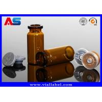 Buy cheap Essential Oil  Small Glass Vials 8ml , Amber Injection Glass Vial With Rubber And Gold Cap from wholesalers