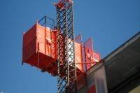 Buy cheap CE, ISO China Red Telescopic lift platform / Single Cage Construction Hoist Load 2000kg from wholesalers