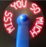 Buy cheap usb novelty--- Mini LED customized message usb programmable fan mini battery operated fan from wholesalers