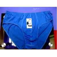 Buy cheap Eco - Friendly Custom Blue Cotton 95% Spandex 5% Plus Size Mens Underwear Briefs from wholesalers
