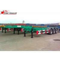 Wholesale 40 Feet Gooseneck Extendable Chassis With Three Axles For Semi Trailer from china suppliers