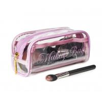 Transparent PVC Cosmetic Bag Lovely Makeup Pouch Organizer With Multi Pockets