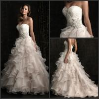 2013 Designer Custom Made Sweetheart A-line Organza Wedding Dresses Bridal Gowns Manufactures