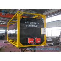 Buy cheap ISO Frame Liquid Bitumen Storage Tanks Asphalt Tanker Trailer 20 Foot Shipping Container from wholesalers