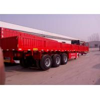 Buy cheap Fuwa support leg 3 axle sidewall cargo semi trailers with optional color for sale from wholesalers