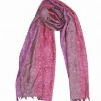 Wholesale Cashmere-like Scarf, Customized Specifications are Accepted, Measures 67 x 178cm +10 x 2cm from china suppliers