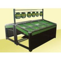 Buy cheap Metal Frame Shelf Green Paint Fruit and Vegetable Rack Display Stands for Supermarket from wholesalers