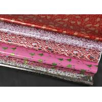 Buy cheap Extra Wide Foil Wrapping Paper Rolls Luxury Yellow Red Coloured Decorative Aluminized from wholesalers