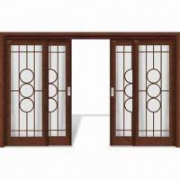 Buy cheap Interior Door with Decorative Wood Line, Window Panel and Computer Relievo/Engrave Surface from wholesalers