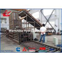 Buy cheap China horizontal Plastic PET Bottles Baler factory throughout 6-8tons/h bale weight 1.2 ton for waste paper from wholesalers