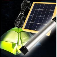 Buy cheap Solar flashlight LED lamp solar panel charging USB charging solar torch for traveling sports outing light from wholesalers