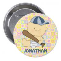 Buy cheap Staff Company Name Badges Tinplate Button Matte Lamination With Safety Pin from wholesalers