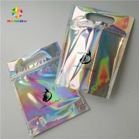 Buy cheap Gravure Printing Clear Plastic Cosmetic Bags Top Handle Holographic Foil For Clothes / Glove from wholesalers