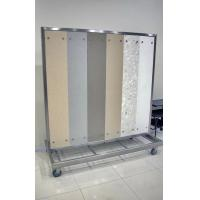 Buy cheap White large flooring display racks with 4 castors for laminate floor stores for Exhibit from wholesalers