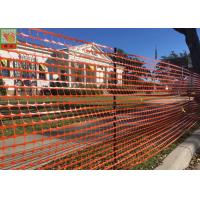 Buy cheap Safety Temporary Plastic Construction Netting / Orange Construction Barrier from wholesalers