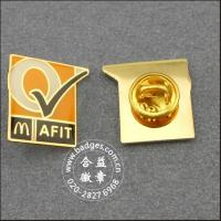 Buy cheap McDonald's badge copper etching plating epoxy paint Lions pins badge KQ08 from wholesalers