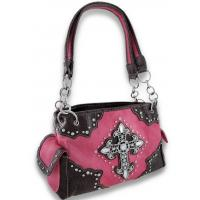 Buy cheap 2014 Rhinestone Cross Studded Western Tote Bag Handbag Purse Double Strap from wholesalers