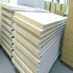 Buy cheap 50mm rock wool wall panel mounted ironing sheet fireproof sandwich board from wholesalers