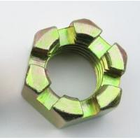 China Mild Steel Slotted Heavy Hex Nuts Hex Castle Nut Zinc Plate Surface High Performance on sale
