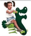 Buy cheap outdoor playground galvanized steel children spring rider-ET-E07D from wholesalers