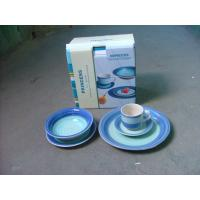 Buy cheap 20Pcs Hand-painted Stoneware Dinner Set, Meet FDA, CPSIA,CA65,LFGB and 84/500/EEC from wholesalers