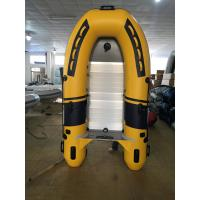 Buy cheap 270 cm PVC Small Inflatable Fishing Boats V - Shaped Bottom With Aluminum Floor from wholesalers