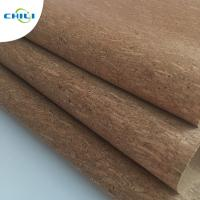 Buy cheap Women Shoes Cork Leather Fabric Knitted Fabric Backing Customized Color from wholesalers