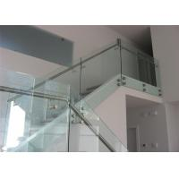 Buy cheap Modern Looking Metal Glass Stair Railing With Fascia Mounted Pipe Handrail from wholesalers